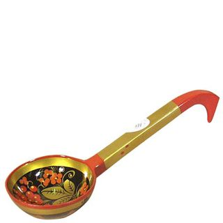 Pressed wooden hohloma ladle