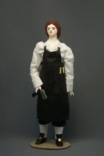 Doll gift porcelain. Peter I - the carpenter