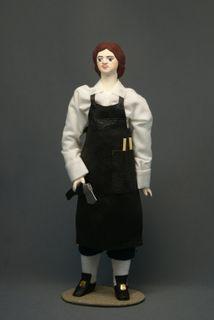 Doll gift porcelain. Peter I - the carpenter