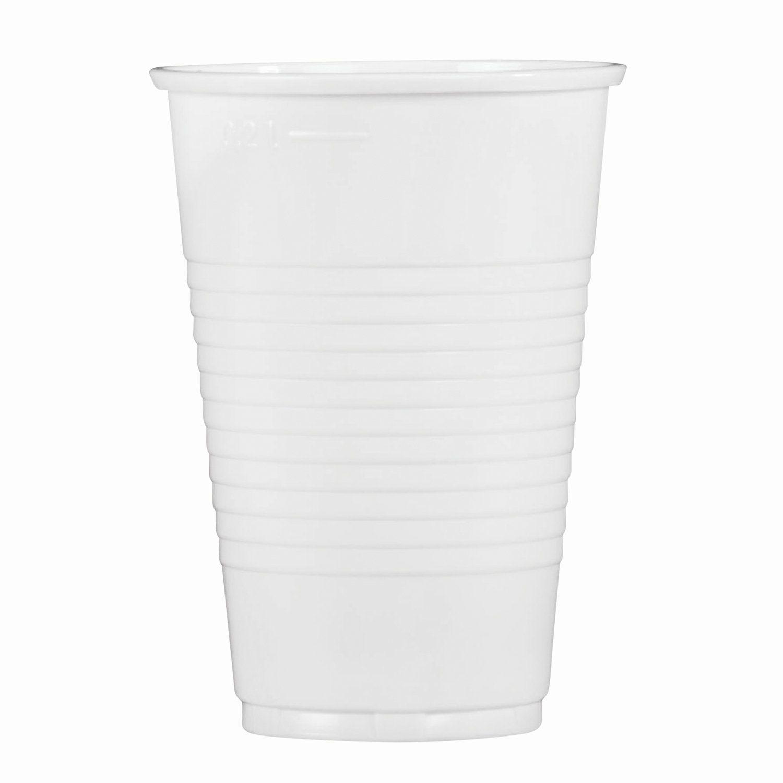 "STIROLPLAST / Disposable cups 200 ml, SET 100 pcs., Plastic, ""ECONOMY"", white, PP"