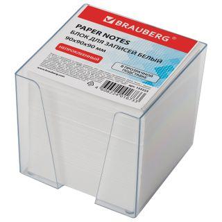 Unit for records BRAUBERG in the stand transparent cube 9х9х9 cm, white, white 95-98%