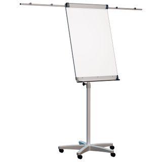 Whiteboard-flipchart magnetic marker (70x100 cm), mobile, holders for paper,