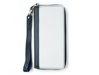 Clutch bag zipper blue combo
