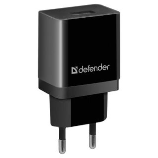 DEFENDER / Wall charger (220 V) EPA-10, 1 USB port, output current 2.1 A, black