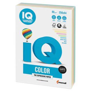IQ COLOR / A4 paper, 80 g / m2, 250 sheets, (5 colors), color, pastel