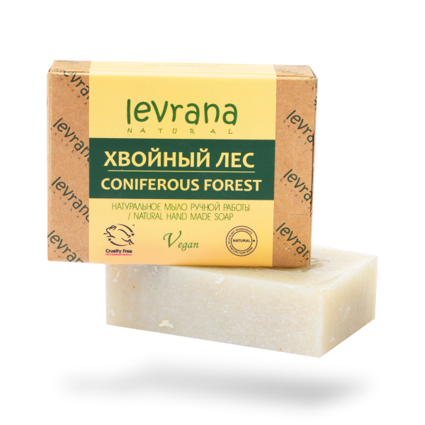 "Natural handmade soap ""Coniferous forest"", LEVRANA"