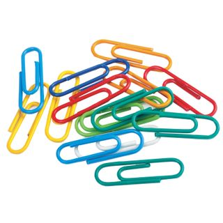 BRAUBERG paperclip, 28 mm, color, 100 PCs in a carton, Russia