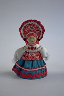 Doll gift. Dancer. Girl in a folk costume(styling). Russia.