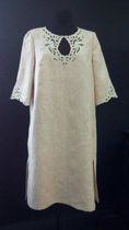 Women's dress made of natural flax