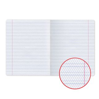 Notebook 12 sheets, HATBER, frequent oblique line, cover cardboard,