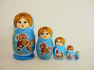 Matryoshka 5 seats Gingerbread - Souvenir