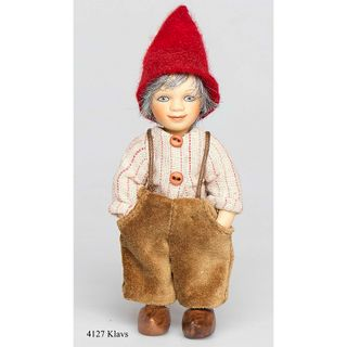 Birgitte Frigast / Porcelain doll Klavs, 10 cm