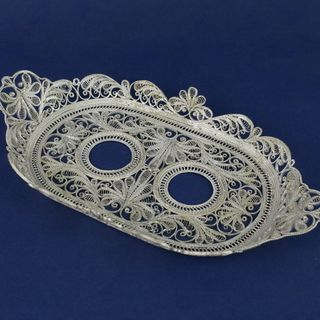 "Kazakov Filigree / Tray ""Winter Patterns"" silvering"