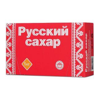 "RUSSIAN. / Refined sugar ""Russian"", 1 kg (196 pieces, size 15x16x21 mm), carton"