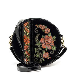 Velvet Clivia Bag round black