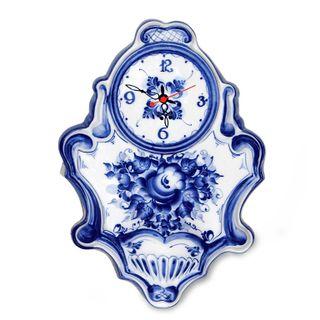 Wall clock Evening bells, Gzhel Porcelain factory