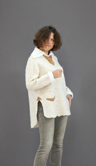 Jumper openwork merino wool