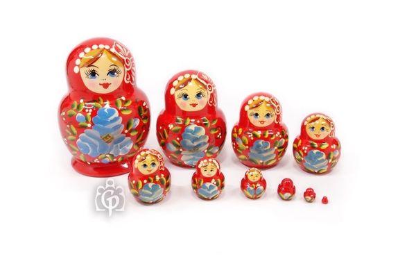 Katyusha - Matryoshka booklet, 10 dolls - non-traditional