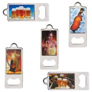 """BRAUBERG / Metal opener 36x96 mm, volumetric 3D image, """"Drinks"""", assorted (5 types)"""