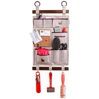 Universal scroll / wall organizer with handmade cork square