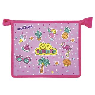 Folder for notebooks INLANDIA, A5, plastic, 1 compartment, color printing, zipper top, Summer