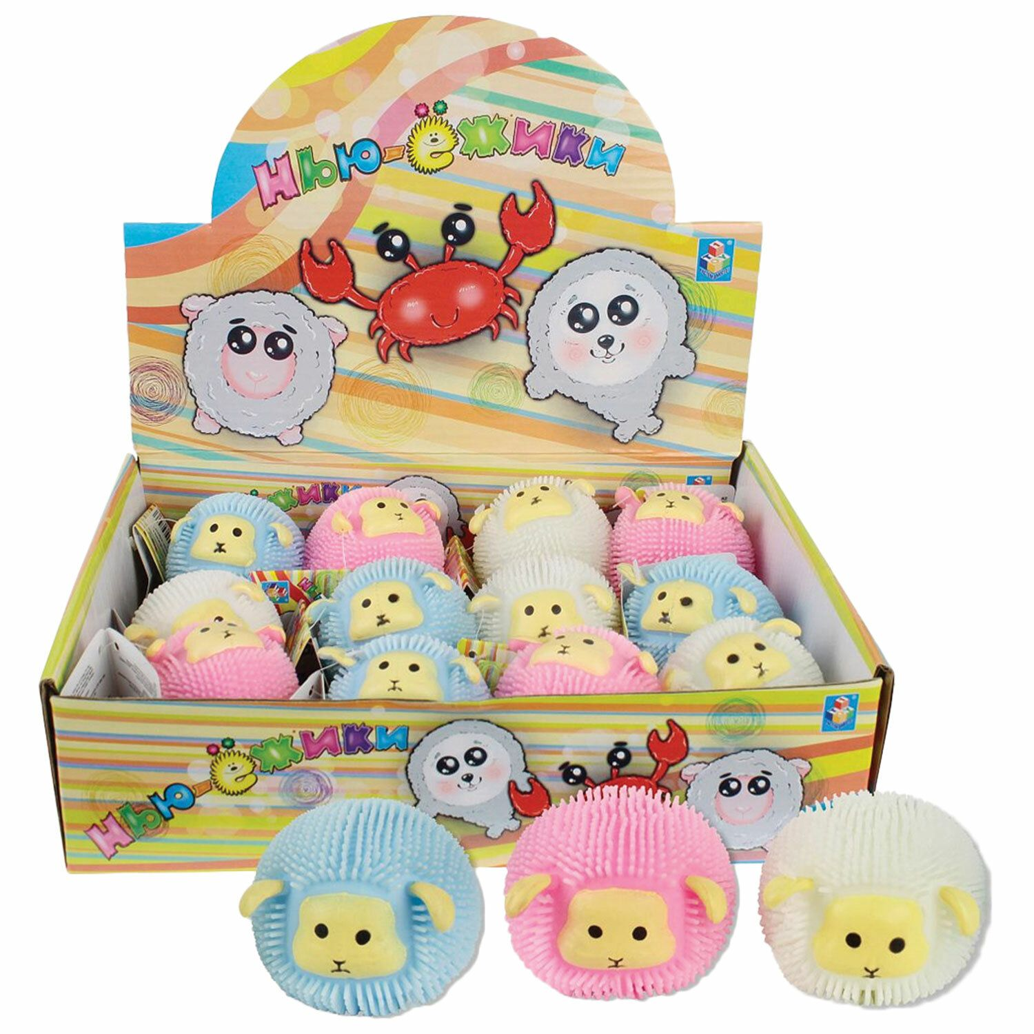 """Toy-anti-stress New York """"Sheep"""", 6 cm, assorted colors, display, 1TOY"""