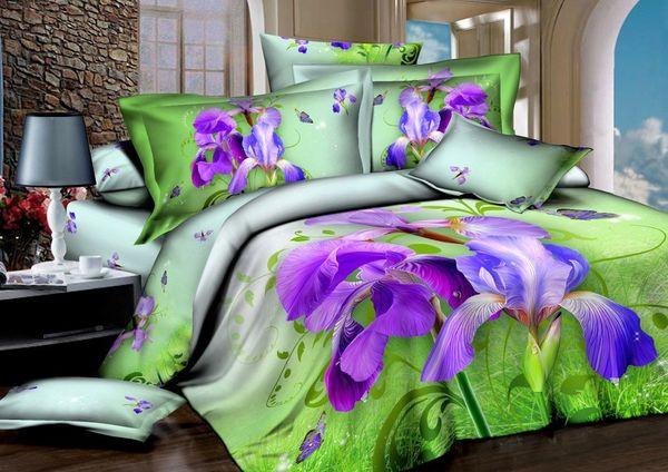 Satin bed linen 3D Spring mood