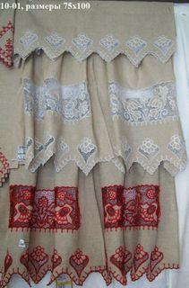 Curtains openwork Karelian patterns