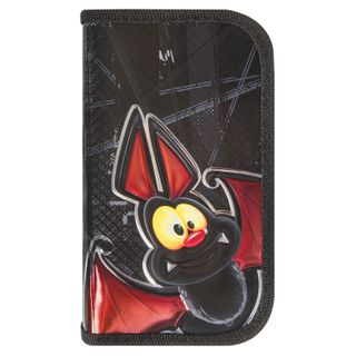 BRAUBERG pencil case, 2 compartments, metalized cardboard, convex, 19х11 cm, Bat