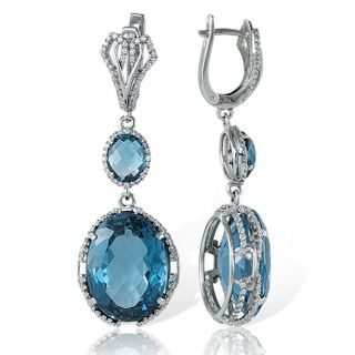 EARRINGS, WHITE GOLD, BRILLIANT