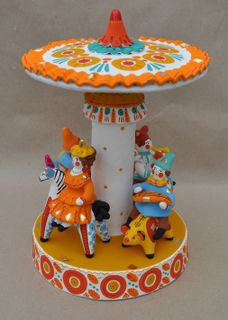 Dymkovo clay toy Carousel