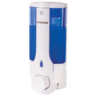 LAIMA / Dispenser for liquid soap in bulk, 0.38 l, ABS-plastic, white (tinted)