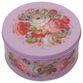 Zhostovo / Round medium tin can, author Solomatina N. 15x15x10 cm - view 1