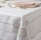 Linen tablecloth with hand embroidery - view 1
