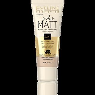 Mattifying cream Foundation No. 102-vanilla series satin matt, gloss, 30ml