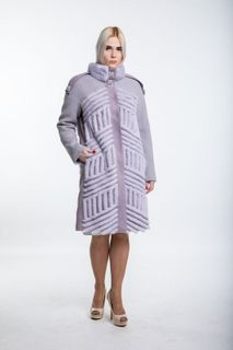 Lilac coat with fur