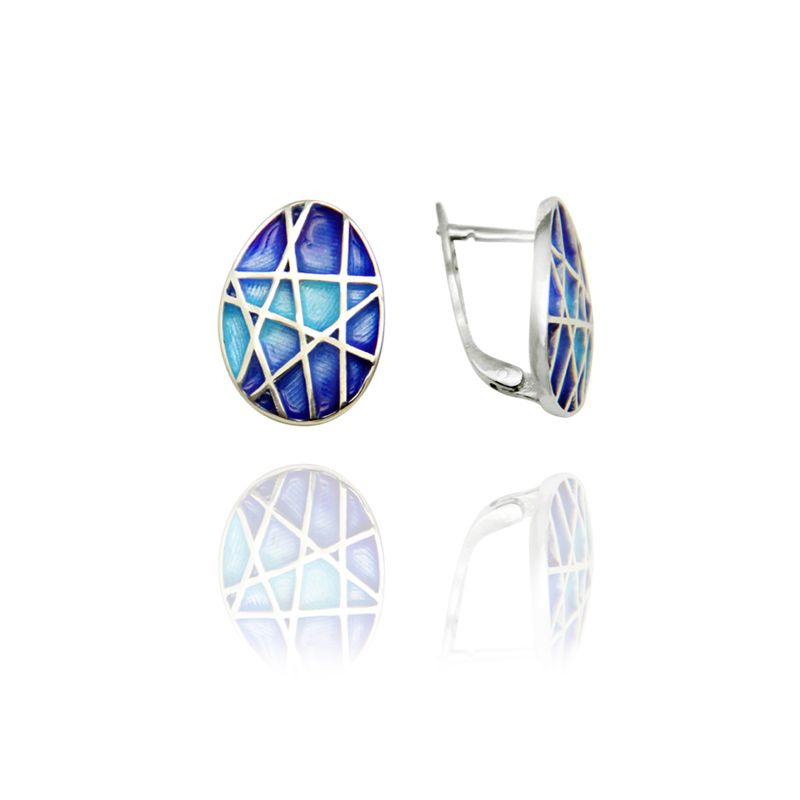 "Rostov enamel / Earrings ""Mosaic"""