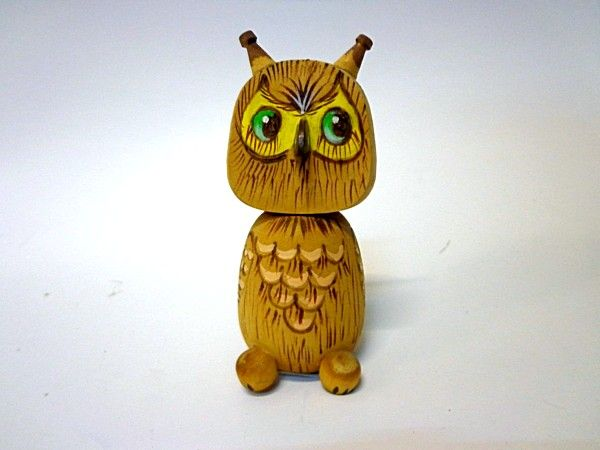 "Tver souvenirs / Fairy-tale characters ""Owl"" with burning"