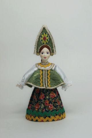 Doll gift porcelain. Russia. Girl in formal attire.