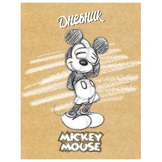 Diary 1-11 class 40 sheets, solid, glossy lamination, HATBER, DISNEY Mickey Mouse