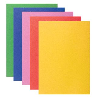 Colour VELVET self ADHESIVE paper A4, 5 sheets in 5 colors 110 g/m2, BRAUBERG