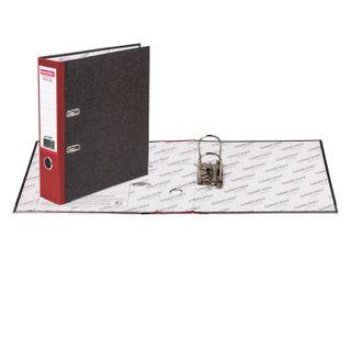 Folder-Registrar FISMA, texture standard, with marble flooring, 80 mm red spine