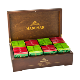 "Gift box made of natural wood with two varieties of tea ""Hanuman"""