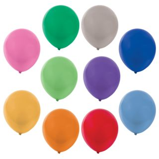 """GOLDEN FAIRY TALE / Balloons 10 """"(25 cm), SET of 50 pieces, metallic, assorted 10 colors, package"""