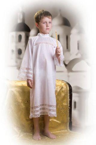 Baptismal shirt for a boy