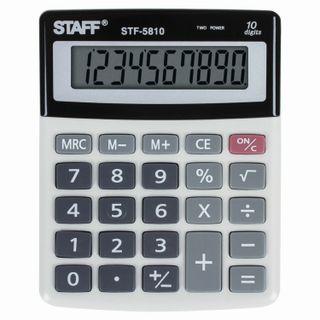 Desktop calculator STAFF STF-5810, COMPACT (134x107 mm), 10 digits, dual power supply
