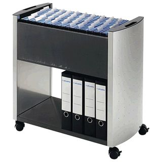 Cart for hanging folders DURABLE, 80 folders, A4 (695х738х380 mm), color: silver/charcoal