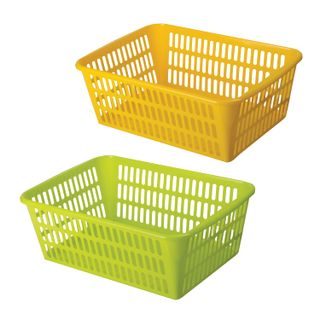 Universal storage basket, plastic, 12.5x36x25 cm, assorted