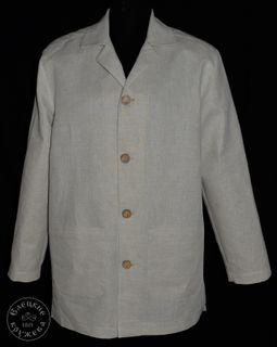 Jacket mens white linen