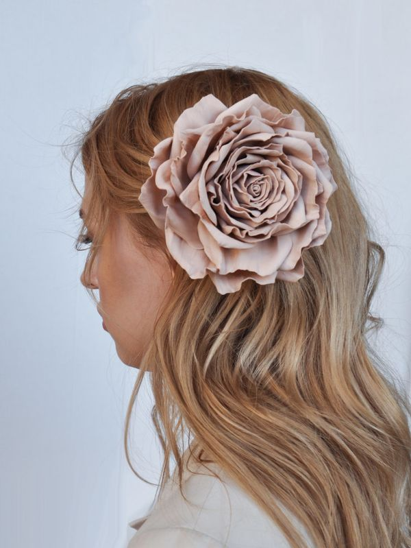Dusty rose brooch hairpin